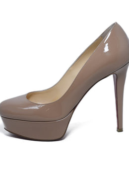 Christian Louboutin Neutral Nude Patent Leather Heels 2