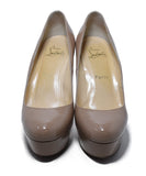 Christian Louboutin Neutral Nude Patent Leather Heels 4