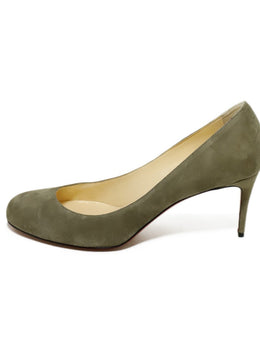 Christian Louboutin Heels US 11 Neutral Taupe Suede Shoes 6