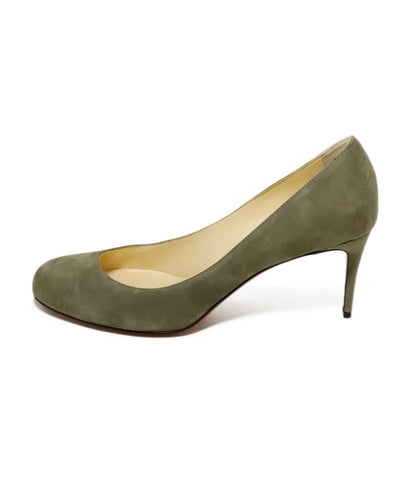 Christian Louboutin Heels US 11 Neutral Taupe Suede Shoes 1