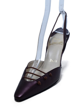 Christian Louboutin Plum Leather Heels 1