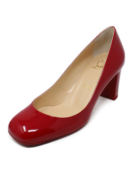 "Christian Louboutin ""Cadrilla 70"" Red Patent Leather Heels 1"