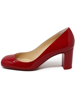 "Christian Louboutin ""Cadrilla 70"" Red Patent Leather Heels 2"