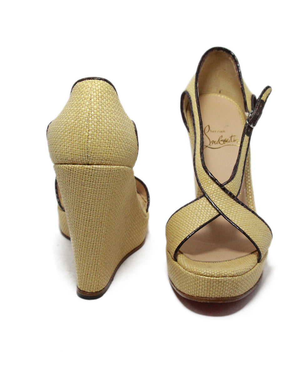 Christian Louboutin tan leather espadrille sandals 3