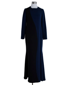 Christian Siriano Black Navy Dress Gown 1