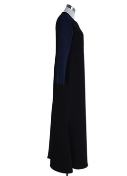 Christian Siriano Black Navy Dress Gown 2