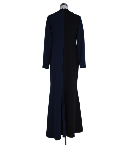 Christian Siriano Black Navy Dress Gown 3