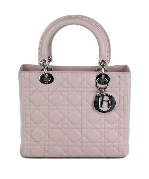 Christian dior pink quilted leather handbag 1