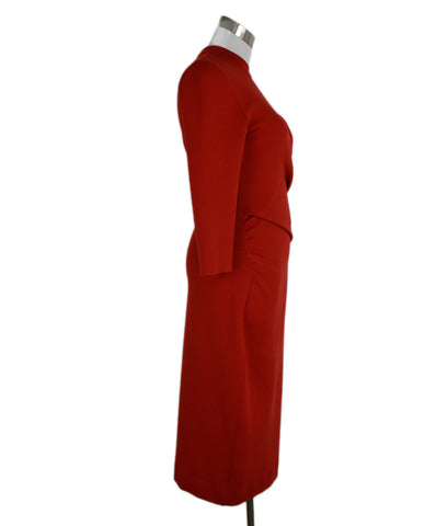 Christian Dior Red Wool Dress 1