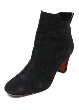 Christian Louboutin Shoes Black Suede Booties 1
