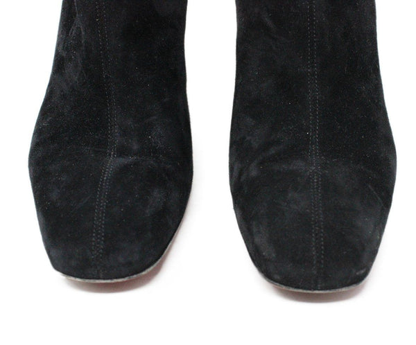 Christian Louboutin Shoes Black Suede Booties 6
