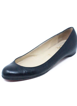 Christian Louboutin Black Leather Flats 1