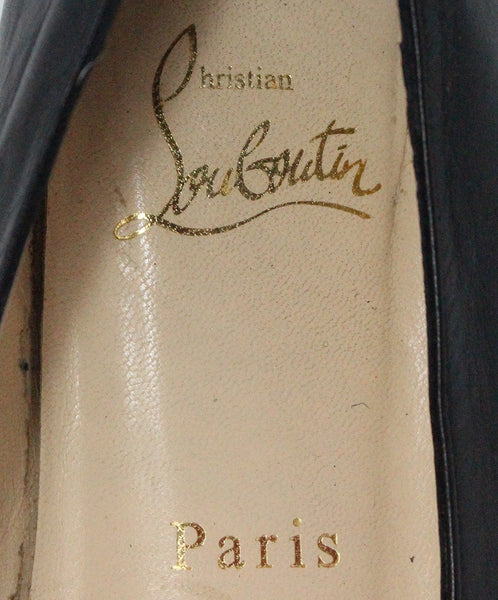 Christian Louboutin Black Leather Flats 5