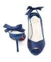 Christian Louboutin Dark Blue Satin Heels 3