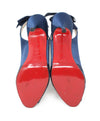 Christian Louboutin Dark Blue Satin Heels 4