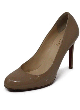 Christian Louboutin Fifille 85 Nude Patent Leather Heels sz 36