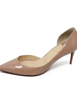 Christian Louboutin Nude Patent Leather Heels sz 6.5