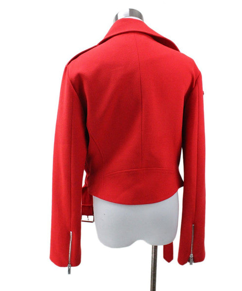 Christopher Kane Red Wool Silk Jacket 2