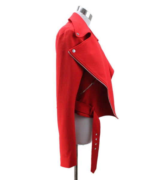 Christopher Kane Red Wool Silk Jacket 1