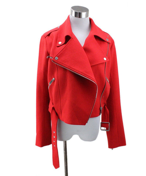 Christopher Kane Red Wool Silk Jacket