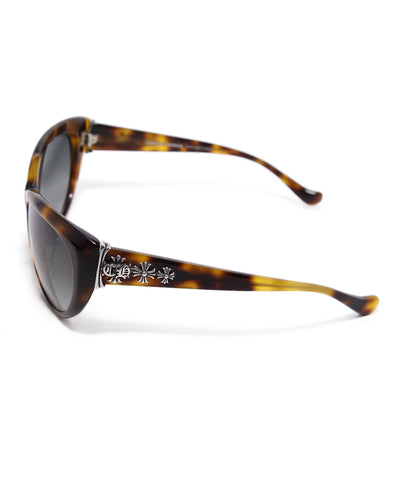 Chrome Hearts Brown Tortoise Plastic Sterling Silver Sunglasses 1