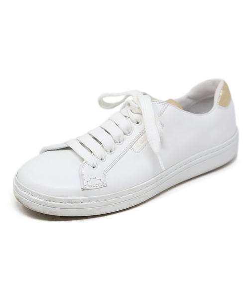 Church's White Gold Leather Shoes 1