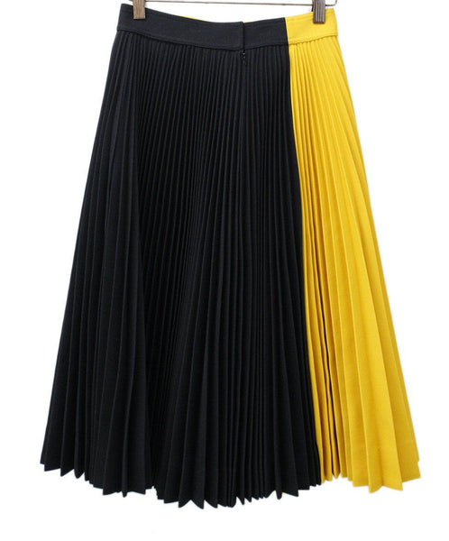 Calvin Klein Black and Yellow Pleated Long Skirt 1
