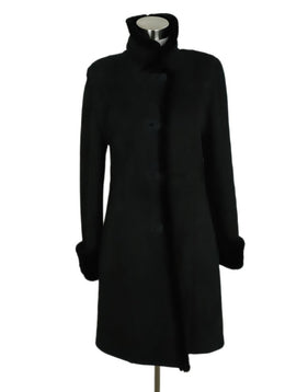 Clifford Michael Black Shearling Fur Coat 1