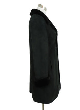 Clifford Michael Black Shearling Fur Coat 2