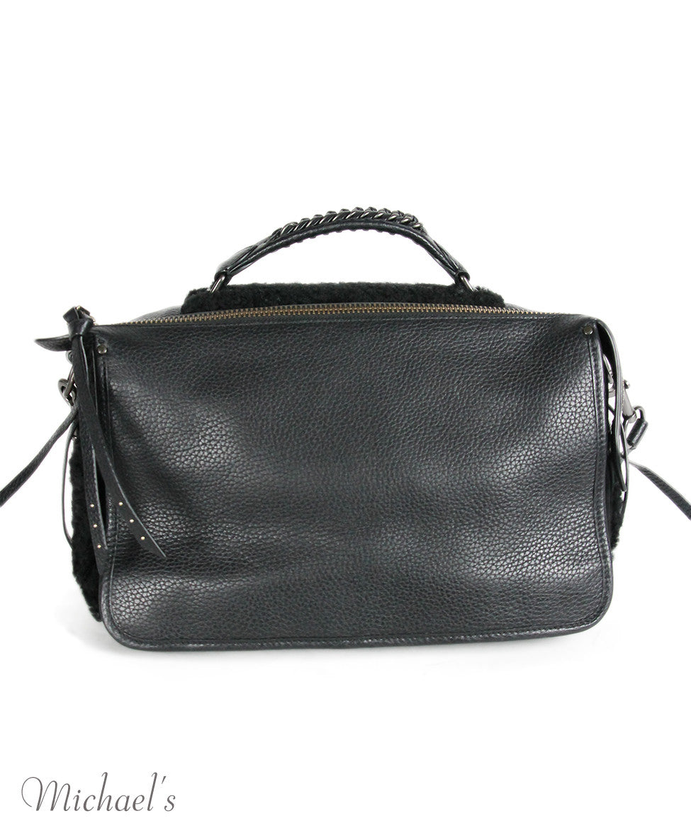 Coach Black Leather Shearling Bag - Michael's Consignment NYC  - 3