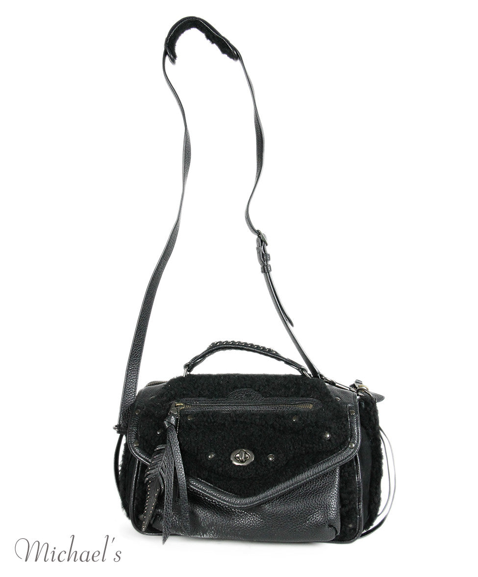 Coach Black Leather Shearling Bag - Michael's Consignment NYC  - 4