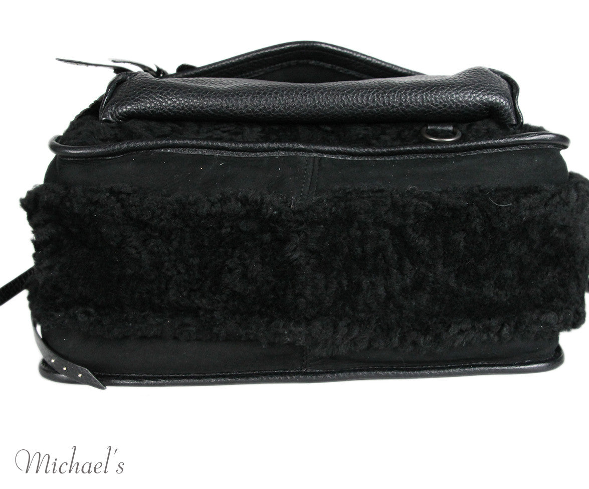 Coach Black Leather Shearling Bag - Michael's Consignment NYC  - 5