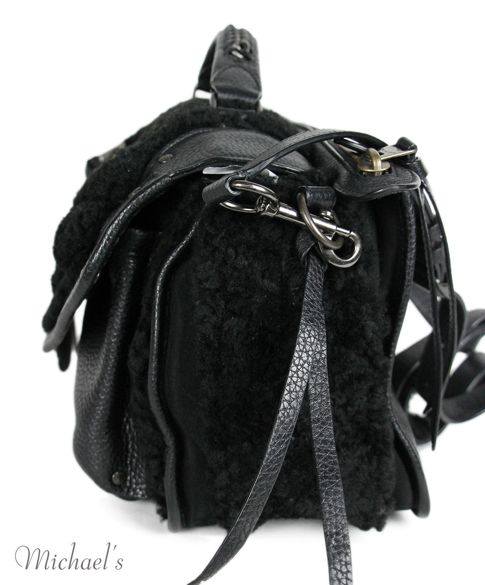 Coach Black Leather Shearling Bag - Michael's Consignment NYC  - 7