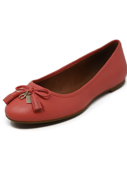Coach Pink Leather Flats