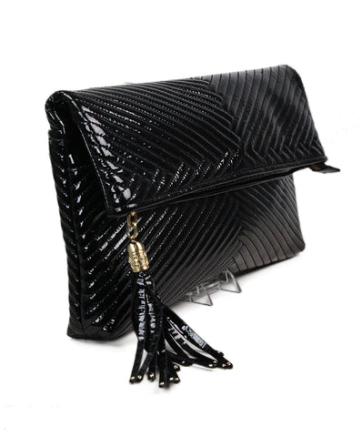 Cole Haan Black Patent Leather Clutch 1