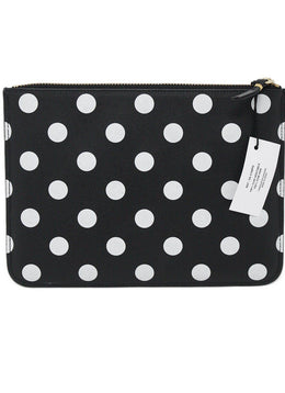 Comme Des Garcons Black White Polka Dots Leather W/Box Handbag 1