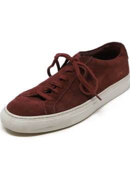 Common Projects Burgundy Suede Sneakers 1