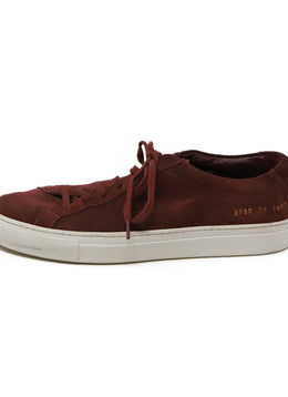 Common Projects Burgundy Suede Sneakers 2