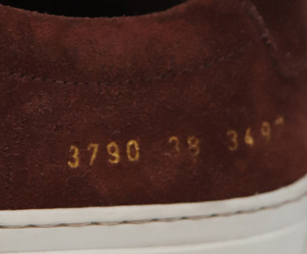 Common Projects Burgundy Suede Sneakers 6