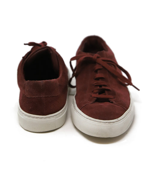 Common Projects Burgundy Suede Sneakers 3