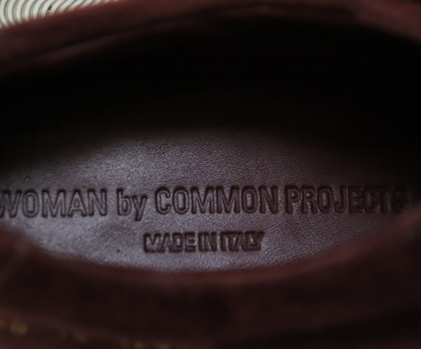 Common Projects Burgundy Suede Sneakers 5