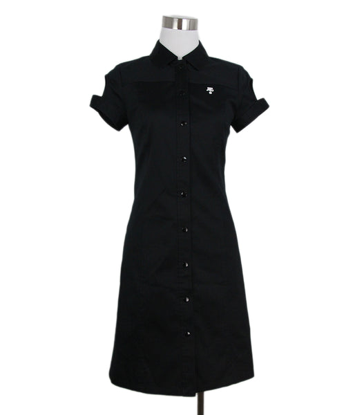 Courreges black cotton dress 1
