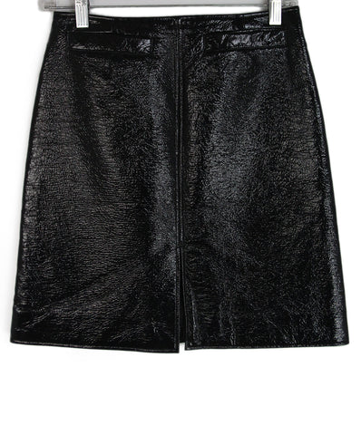 Courreges black patent leather skirt 1