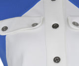 Courreges White Blue Polyamide Dress 6
