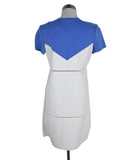 Courreges White Blue Polyamide Dress 3