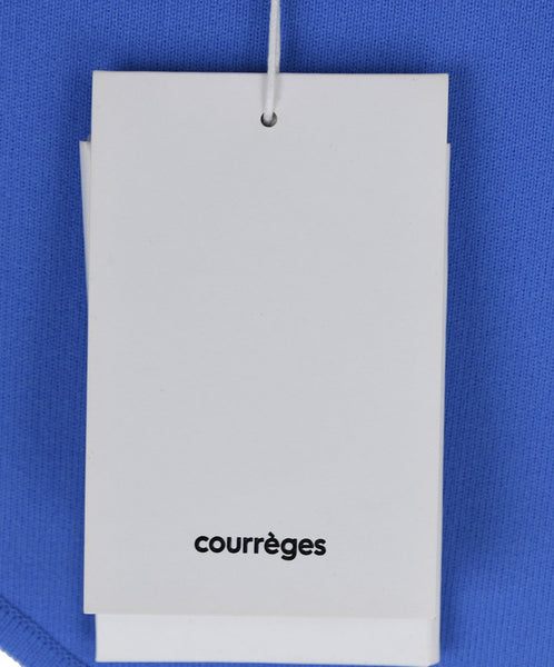 Courreges White Blue Polyamide Dress 7