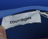 Courreges White Blue Polyamide Dress 4