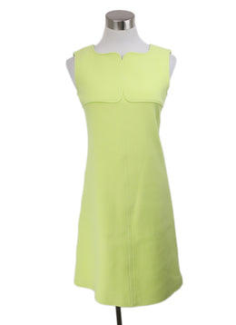 Courreges Yellow Cotton Elastane Spandex Dress 1