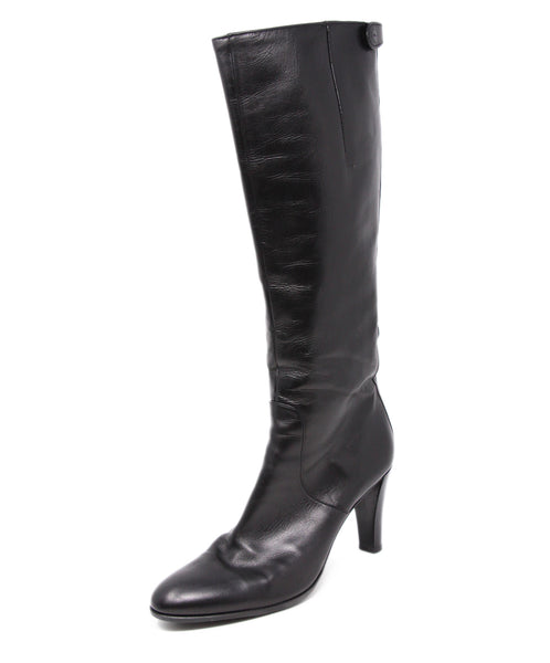 Crisci Black Leather Boots 1