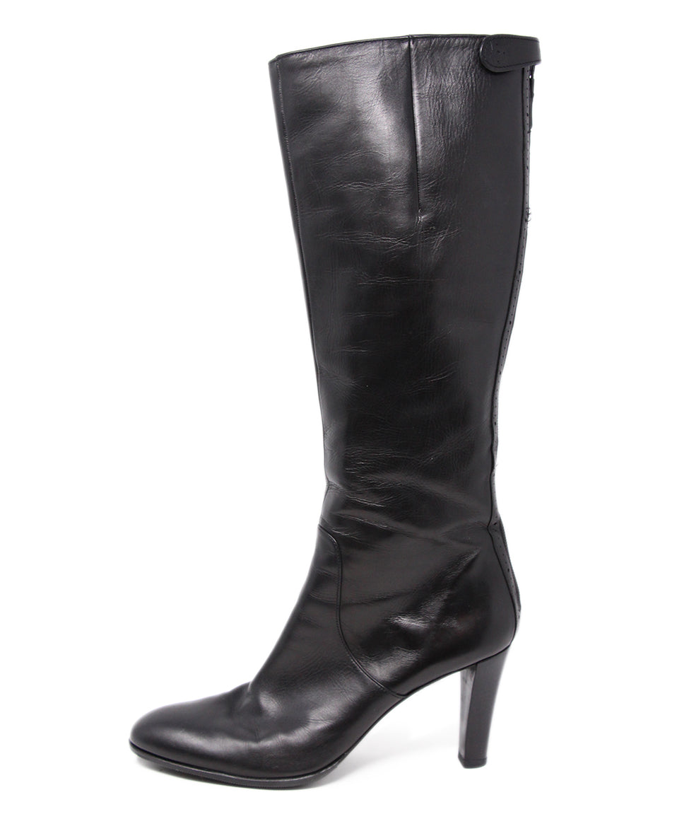 Crisci Black Leather Boots 2